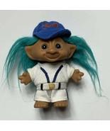 "VTG Old Ace Novelty 5"" Trolls Troll Doll Figure White Blue Baseball Jers... - $14.65"