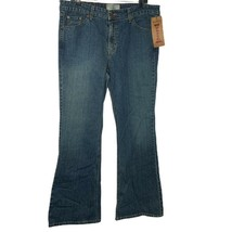 Levis Womens Flare Jeans Blue Stretch Low Rise Pockets Juniors 15 Medium... - $27.75
