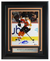 Scott Laughton Signed Framed 8x10 Philadelphia Flyers Hockey Photo BAS - $138.59