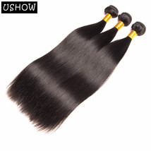 3 Pieces 100% Unprocessed Human Hair Brazilian Straight Hair Extensions ... - $75.71+