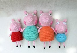 Peppa Pig family stuffed doll toys - handmade crochet amigurumi - $99.99
