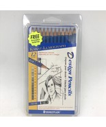 Staedtler Karat Mars Lumograph 12 Design Pencils Set New with Tin 100G12... - $19.95