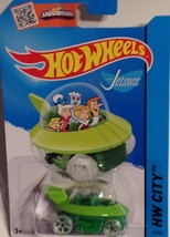 Mattel 2015 Hot Wheels The Jetsons Capsule Car HW City 57/250 Green NIP - $7.92