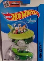 Mattel 2015 Hot Wheels The Jetsons Capsule Car HW City 57/250 Green NIP - $7.92