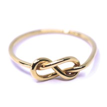 18K ROSE GOLD INFINITE CENTRAL RING, INFINITY, SMOOTH, BRIGHT, KNOT DIAM. 5mm image 1