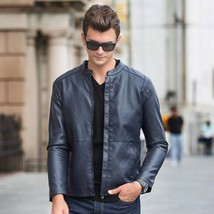 Men's winter jacket, motorcycle leather jacket, thermal coat - $54.06