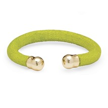 "Lime Green Gold Tone Stingray Bracelet 8"" - $36.42"