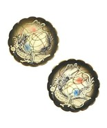 "2 Vintage Moriage Black Dragonware Miniature Plates Coasters Dragon 3.25"" - $14.50"