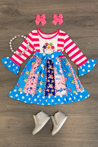 NEW Boutique Baby Shark Long Sleeve Girls Ruffle Twirl Dress 4 5-6 6-7 7-8 - $19.99