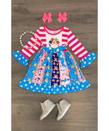 NEW Boutique Baby Shark Long Sleeve Girls Ruffle Twirl Dress 4 5-6 6-7 7-8 - $19.99