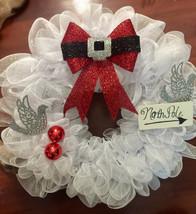 Holiday-Christmas Wreath! Beautiful Santa Bow! ... - $50.00