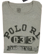 NEW!  Polo Ralph Lauren Vintage Style Varsity T Shirt!   *Gray* *Weathered Look* - $29.99