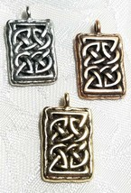 RECTANGULAR CELTIC FINE PEWTER PENDANT CHARM UNITED STATES