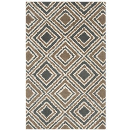Surya Naya NY-5195 Contemporary Hand Tufted Wool Taupe  Area Rug 2' x 3' - $79.19