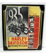 Harley Davidson Motorcycles Embossed Tin Metal Sign 1994 Single Sided 14... - $29.69