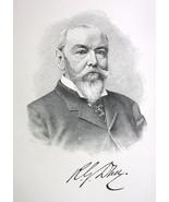 ROBERT DUN Owner The Mercantile Agency New York - 1895 Portrait Print - $9.44