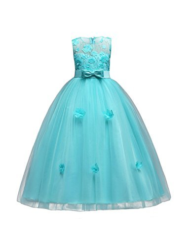 Flower Girl Dresses Pageant Princess Bridesmaid Dress for Wedding First Communio