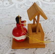 Vintage Wood Christmas Ornament Girl Woman at W... - $14.99