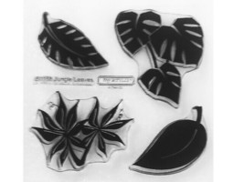Close to My Heart Jungle Leaves Clear Acrylic Stamp Set #B1168