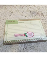 C. R. Gibson Christmas Themed Recipe Cards 6 x 4 Cards - $0.00
