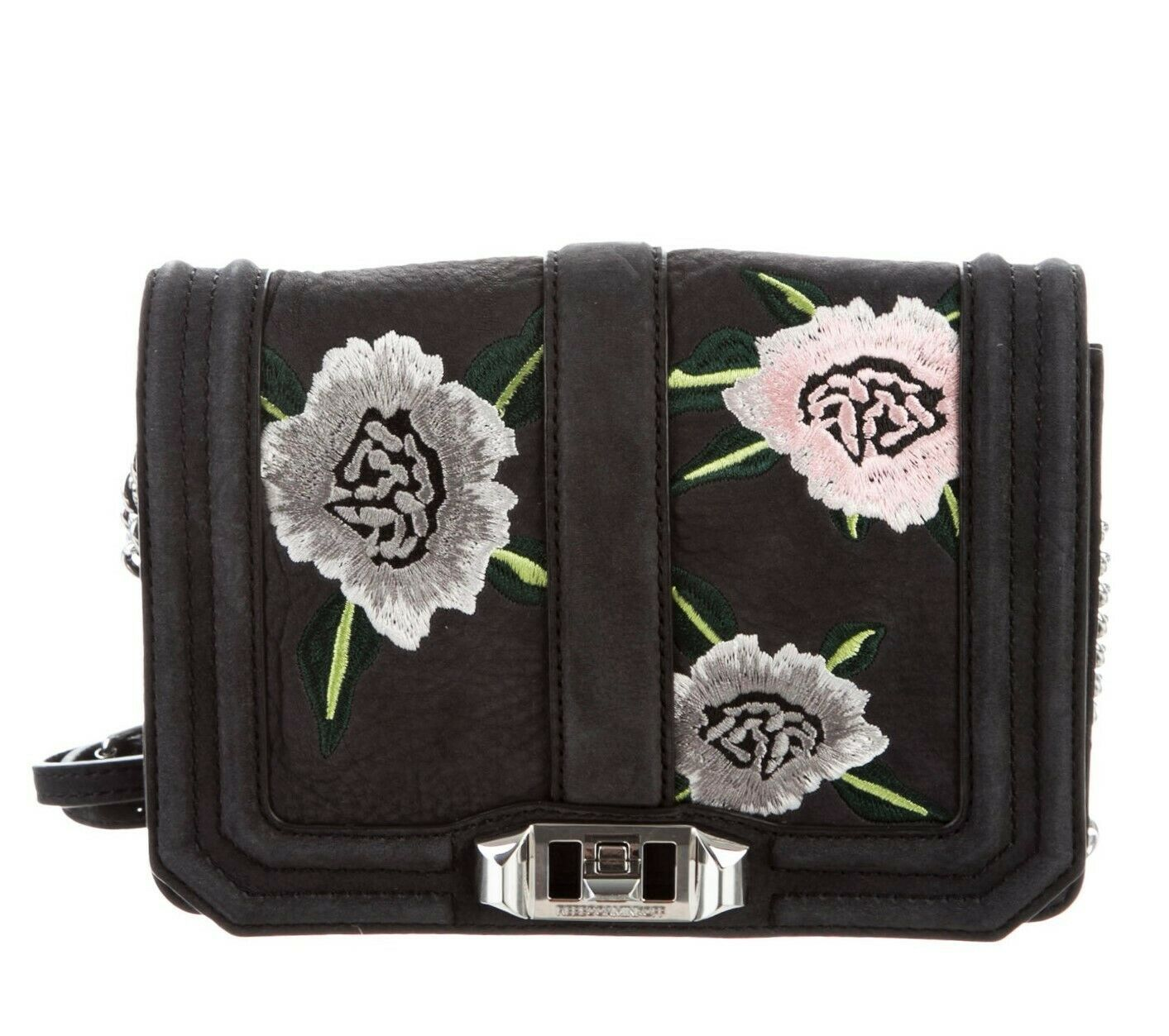 Primary image for Rebecca Minkoff Small Love Embroidered Nubuck Crossbody Bag - Black