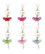 DreamBell Women Golden Color Ballerina Girl Necklace Exquisite Shimmer R... - $7.78