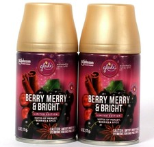 2 Ct Glade 6.2 Oz Limited Edition Berry Merry & Bright Automatic Spray Refill - $22.99