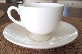 Wedgwood White Footed Cup & Saucer Black Vase Mark Bone China England - $14.95