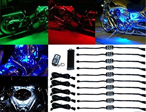 OCTANE LIGHTING 10Pc Rgb/Red/Green/Blue/Yellow Glow Lights Led Pods Kit Fits Har - $59.35