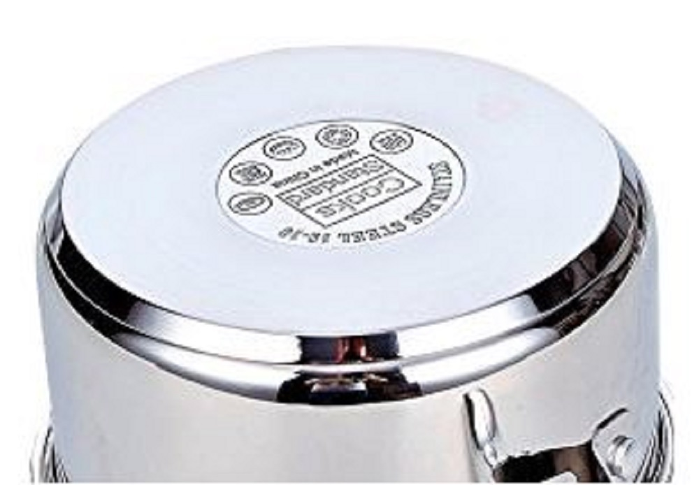 Dutch Oven Stainless Steel Glass Lid Covered Round 7 Qt Kitchen Induction CookS