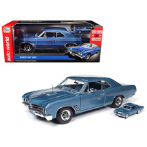1967 Buick GS Hardtop Sapphire Blue and 1/64 Scale 1967 Buick GS Hardtop... - $93.05