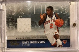 2009-10 Panini Studio Skylines Nate Robinson Game Authentic Jersey Card ... - $7.42