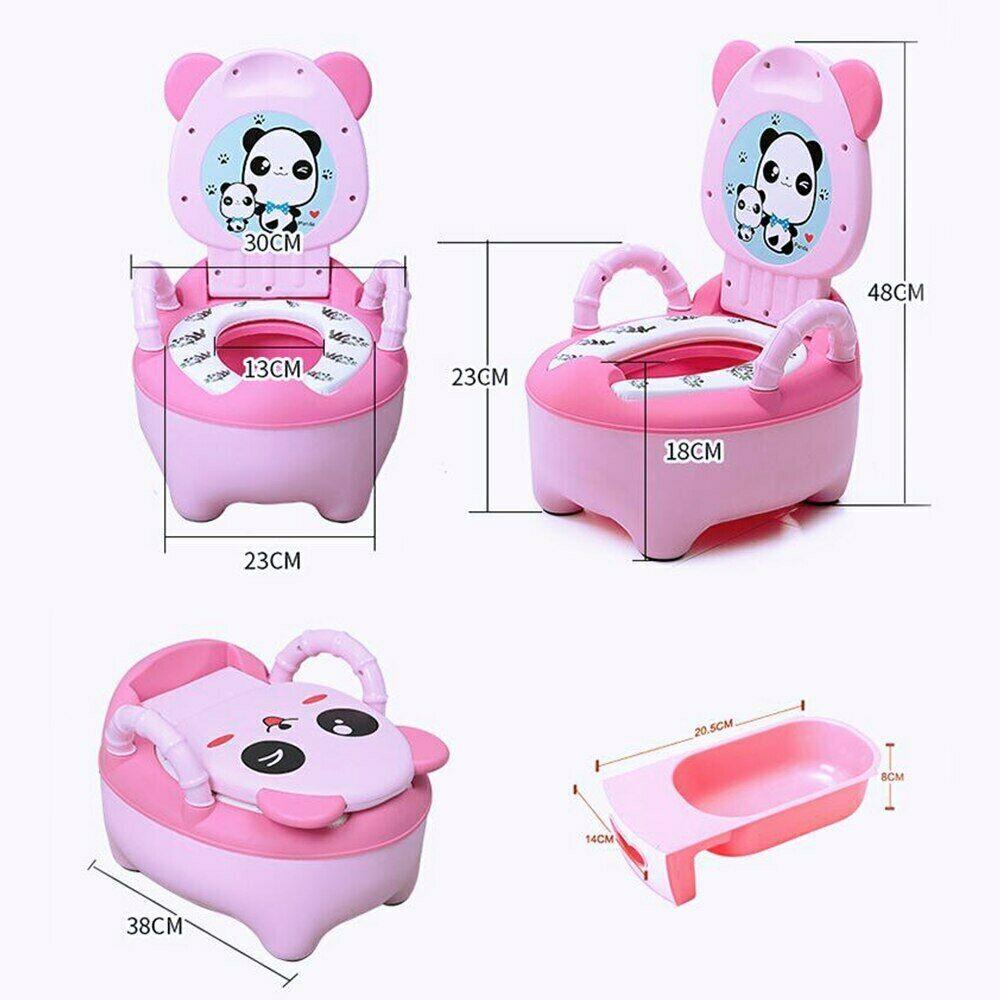 Baby Pot Children Training Potty Toilet Seat Kids Cartoon Panda Toilet Trainer