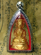 Very Rare! Magic Gold Phra Chai Love Charm Powerful Victor Thai Buddha A... - $16.99