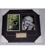 Frank Lloyd Wright Signed Framed 20x22 Photo & 1949 Check Display Fallin... - $1,839.99