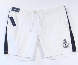 Polo Ralph Lauren White Vintage Rugby Graphics Shorts Mens NWT - $74.99