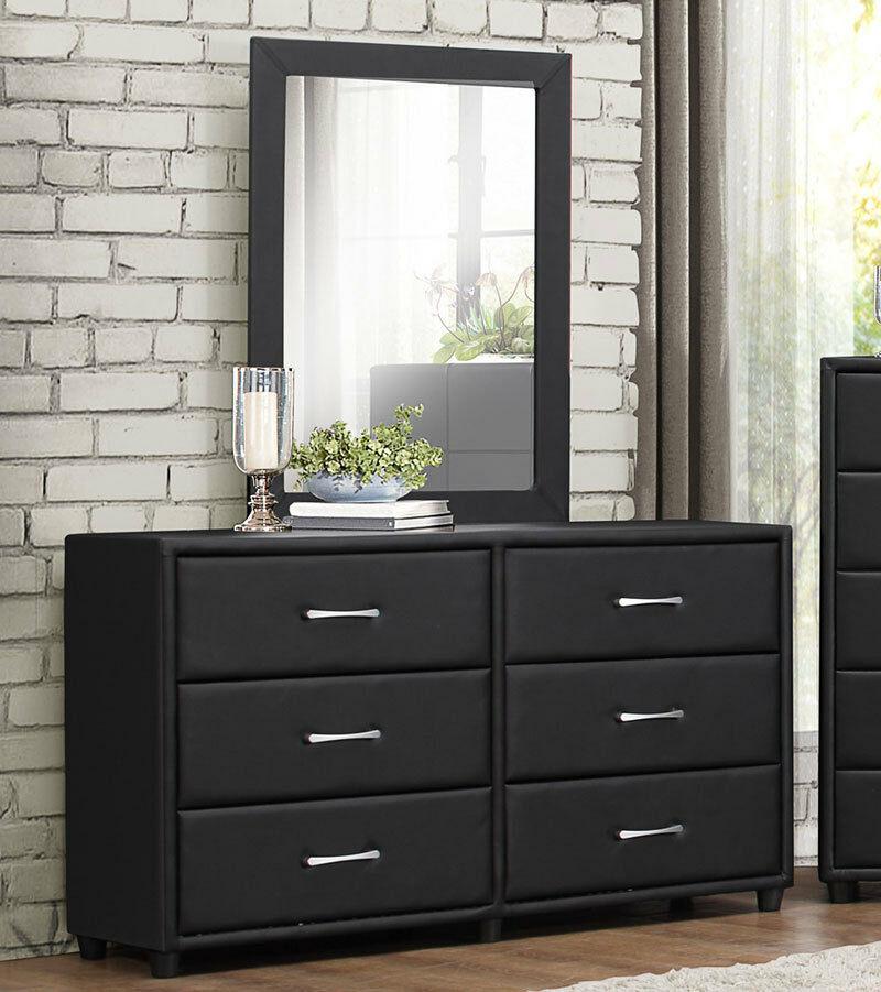5 Modern Bedrooms: NEW BIRCHDALE 5 Piece Modern Black Bedroom Suite W/ King