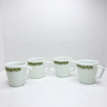 Vintage 4 Pyrex Mugs Cups Spring Blossom Crazy Daisy #1410 Corning Corelle - $29.69
