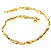 18K YELLOW GOLD BRACELET, ALTERNATE DIAMOND CUT BALLS & OVALS, SPHERE, F... - $604.89