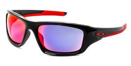 Oakley Sunglasses Valve OO9236-02 Polished Black Frames Red Iridium Lens... - $91.50
