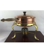 Copper Chafing Dish Double Boiler Food Warmer Fondue Pan Made Italy - $23.38