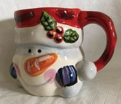 Tabletops Unlimited Santa & Friends Snowman Jumbo Mug Cup Christmas Holiday - $12.86