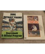 1977 & 1986 DETROIT TIGERS SCORE BOOK & OFFICIAL PROGRAM - $4.04