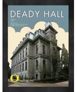 """Oregon """"Deady Hall"""" 13 x 16 Art Deco Framed Print  - $39.95"""