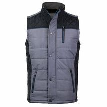 Holstark Men's Zip Up Multi Pocket Insulated Fleece Lined Two Tone Athletic Vest image 3