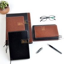 New Brown Faux Leather Blank Journal Diary Office Notepad Student Notebo... - $12.86