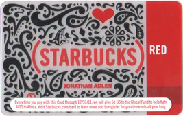 Starbucks 2010 Jonathan Adler Red Collectible Gift Card New No Value - $2.99