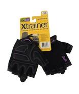 Go Fit Women Xtrainer Cross-Training Gloves XS Black Purple Trim - $11.73