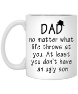 Funny Family Coffee Mug For Dad - Father and Son Mug Best Happy Birthday... - $18.76