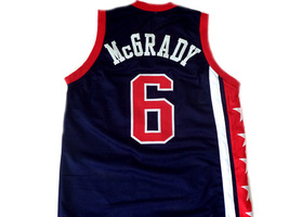 Tracy McGrady #6 Team USA Men Basketball Jersey Navy Blue Any Size image 2